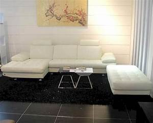modern leather sectional sofa set with ottoman 44l633 With modern sectional sofa and ottoman set