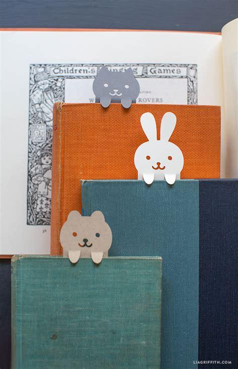 diy papercut animal bookmarks lia griffith