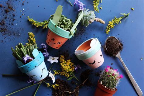 peinture table cuisine tuto enfants des petits pots de fleurs mignons