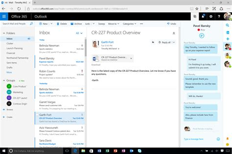 Office 365 Outlook Layout by New To Office 365 In May Updates To Skype For Business