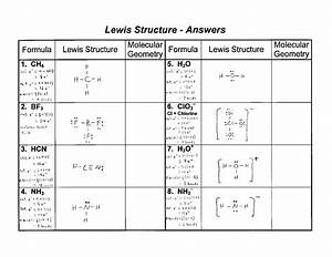 51 Lewis Dot Structure Worksheet Answers  Ap Chemistry