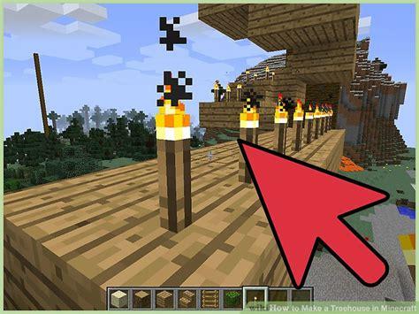 minecraft treehouse tree step wikihow bridge trees blocks version