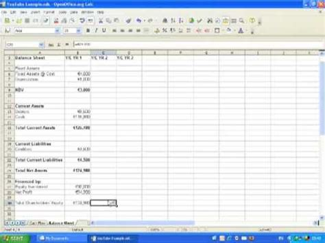 financial projections pt  balance sheet  youtube