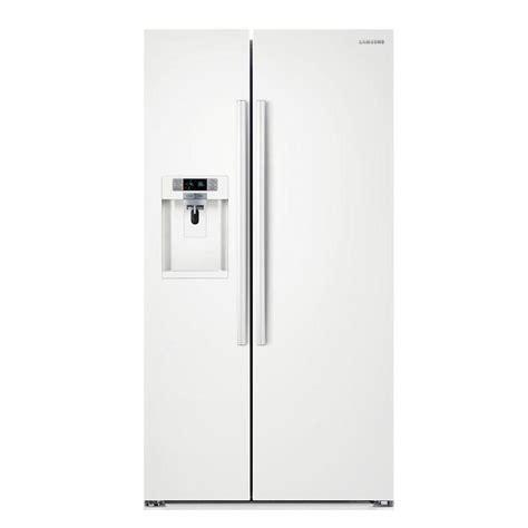 samsung counter depth refrigerator side by side samsung 22 3 cu ft side by side refrigerator in white