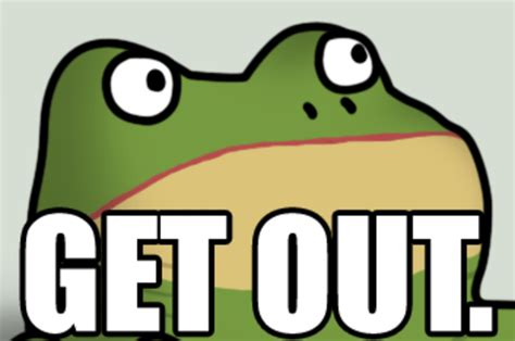 Get Out Memes - image 255359 get out frog frogout me obrigue know your meme