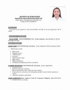 jeswena resume new With saleslady resume sample