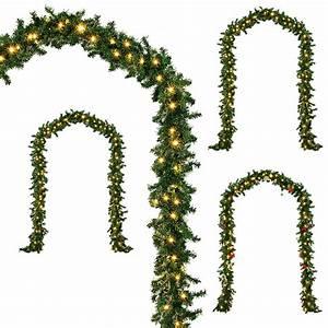 Girlande Weihnachten Beleuchtet : werchristmas weihnachtsdekoration 9 ft beleuchteter weihnachtsgirlande beleuchtet mit 40 ~ Frokenaadalensverden.com Haus und Dekorationen