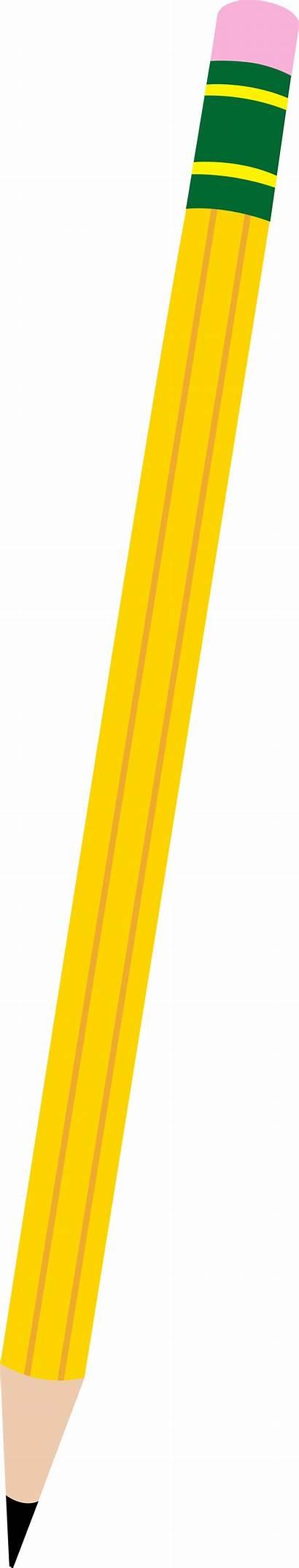 Pencil Clipart Clip Short Transparent Cliparts Horizontal