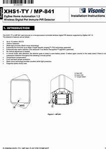 Visonic Mp841 Pir Detector With Zigbee Protocol User Manual