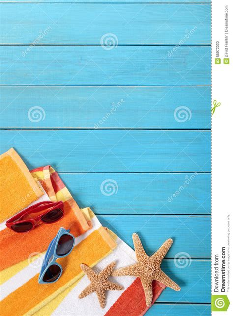 vertical towel vertical summer background copy space stock photo