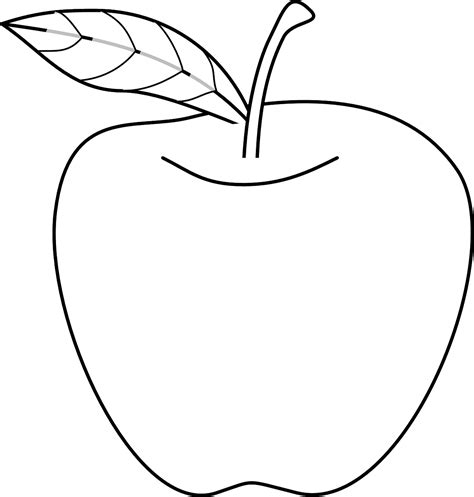 mewarnai gambar buah apel free