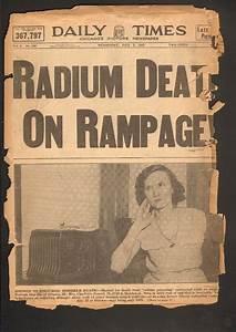 Radium Girls  U2013 Postscript