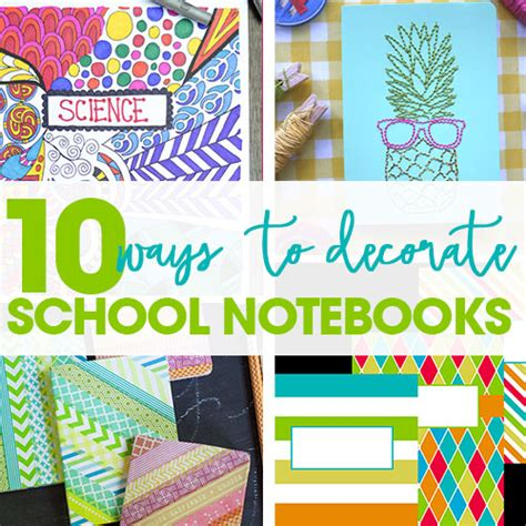 creative easy ways  decorate school notebooks