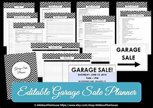 Weekly Planner Excel Garage Sale Planner All About Planners