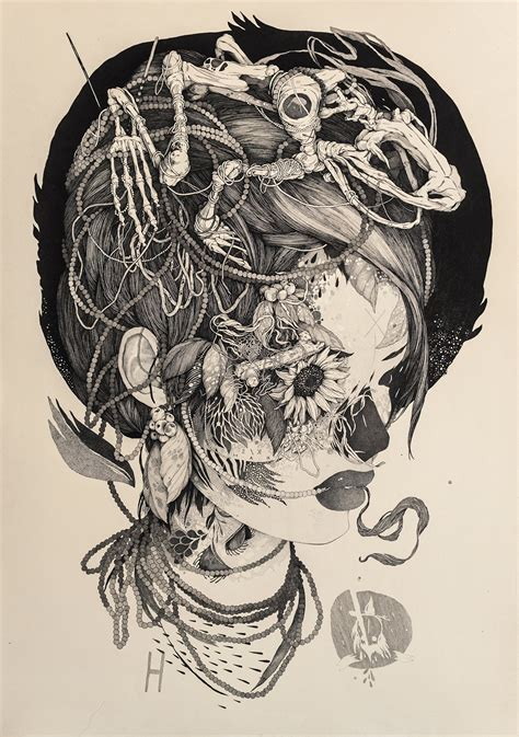 sprawling tattoo inspired ink drawings  benze colossal