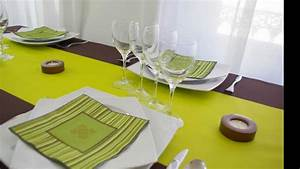 idee de decoration de table vert anis et chocolat youtube With deco de table campagnarde