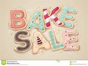 bake sale cookie letter illustration stock vector image With bake letters
