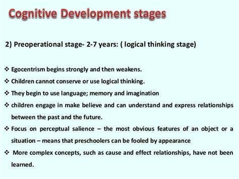 preoperational stage essays 495 | piaget cognitive development theory 22 638