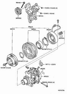 Toyota Corolla A  C Compressor Clutch Pulley  Rotor  Magnet