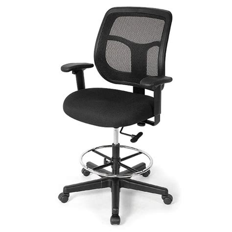 high back drafting office chairs for standing desks