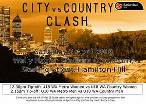2016 Under 18 State Teams City v Country Clash - WA ...
