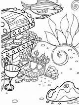 Coloring Sea Under Sheets Dover Unterwasserwelt Ausmalbilder Ocean Malvorlagen Publications Bottom Ausmalen Adventure Welcome Mandala Vorlagen Printable Adult Unterwasser Adults sketch template