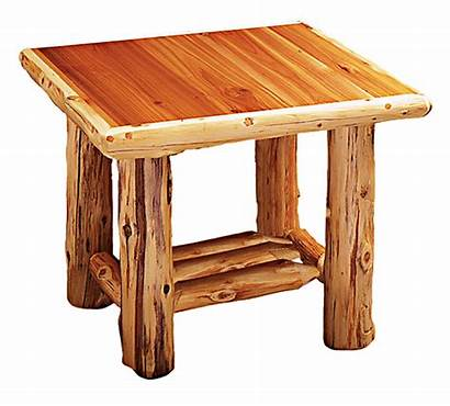 Table End Log Tables Furniture Cedar Rustic