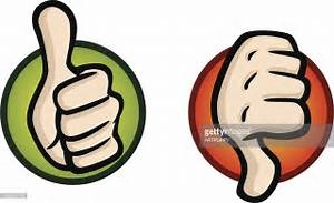 Thumbs Up And Down Icons Vector Art | Getty Images