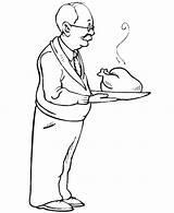 Coloring Turkey Roast Gran Celebration Parents Netart sketch template