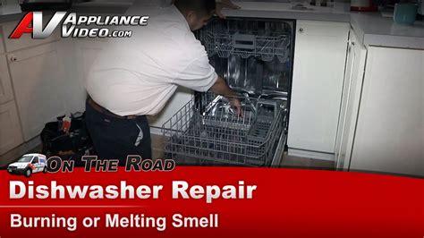kitchenaid whirlpool dishwasher repair burning