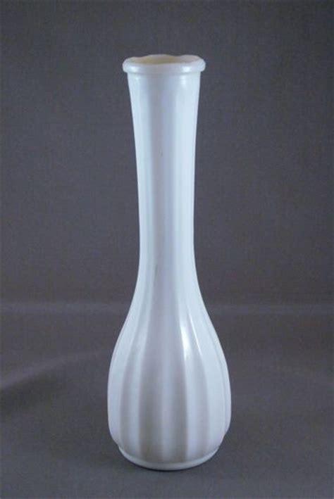 milk glass vase vintage white milk glass bud vase from