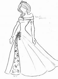 Sketches Of Princess Dresses Drawing Art Ideas