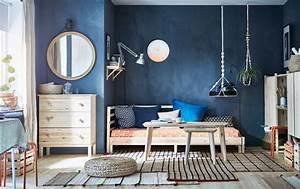 Assiette Bleu Canard : d co chambre bleu calmante et relaxante en 47 id es design ~ Teatrodelosmanantiales.com Idées de Décoration