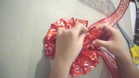 how to make bows out of ribbon how to make a easy ribbon bow youtube