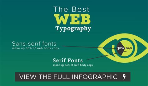 what is the best web typography infographic tim b design