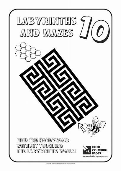 Maze Mazes Coloring Cool Pages Labyrinths Labyrinth