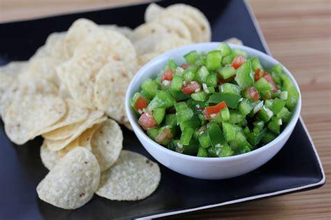 green pepper salsa recipe blogchefnet