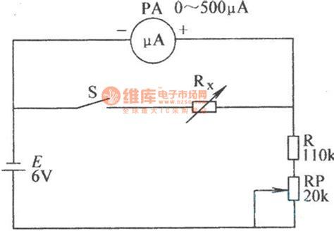 The Microampere Meter Internal Resistance Test Circuit