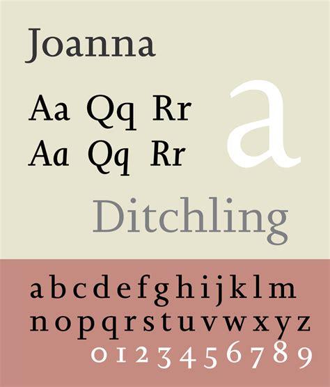 joanna typeface wikipedia
