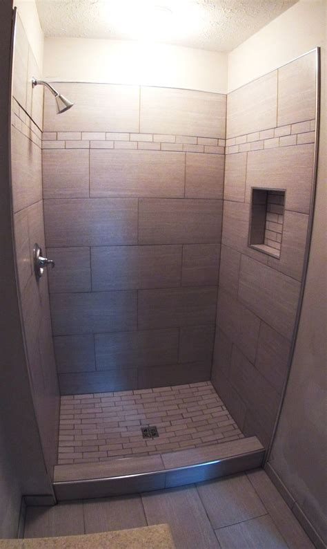 contemporary showers 12 x 24 alternating tile master bathroom ideas pinterest home renovation shower tiles and