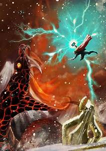 Thor vs Midgard Serpent   Sons of Asgard   Pinterest