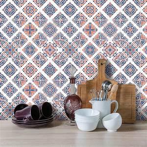 Stickers Carreaux De Ciment Cuisine : 9 stickers carreaux de ciment azulejos riffo cuisine ~ Melissatoandfro.com Idées de Décoration