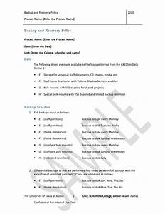 Backup and recovery policy templatedoc for Backup and recovery policy template