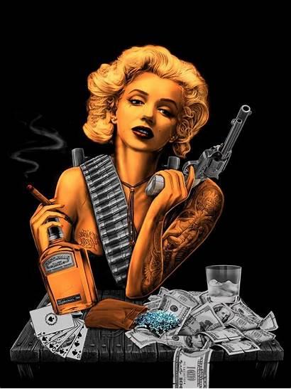 Monroe Marilyn Gangster Deviantart Gangsta Marylin Tattoo