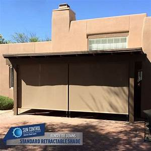 Manual Standard Retractable Patio Shade With The Bungee