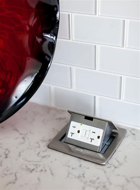 countertop electrical receptacles kitchen design idea install a pop up outlet directly