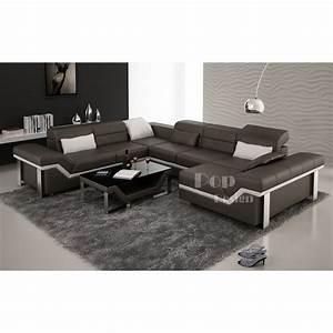 Canapé D Angle Xl : canap d 39 angle cuir panoramique design torino xl pop ~ Teatrodelosmanantiales.com Idées de Décoration