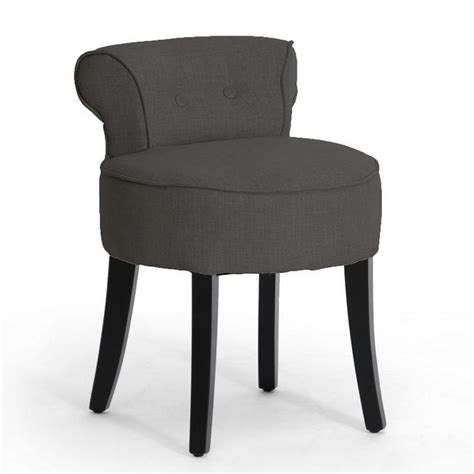 accent chair for vanity gray linen modern button tufted low lounge accent
