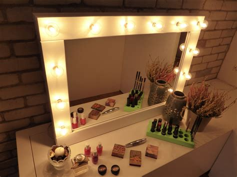 vanity table with lights around mirror furniture wonderful collection of mirror with lights