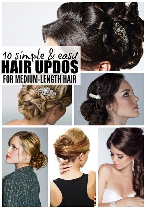 how to make easy hairstyles for medium length hair crea